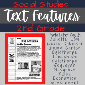 Text Features: 2nd Grade ELA/Social Studies Review