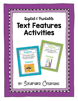 Text Features Activity (Digital & Printable)