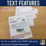 Text Features - Article to read and color with bonus material