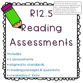 Text Features Assessments - RI2.5