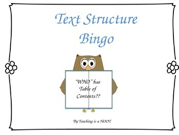 Text Features BINGO