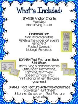 Text Features BUNDLE - Comprensión de textos informativos {SPANISH}