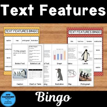 Text Features Bingo