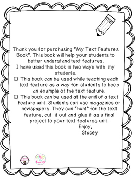 Text Features Book
