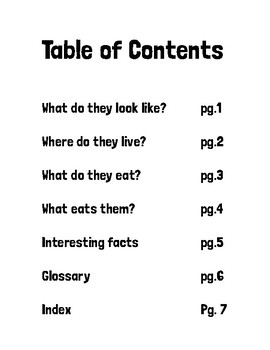 Text Features Book Activity
