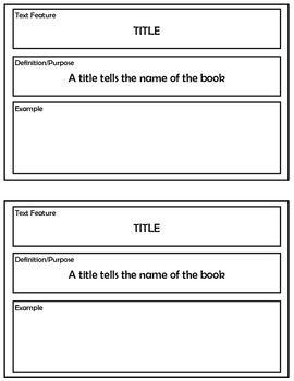 Text Features Booklet