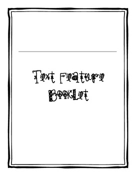 Text Features Booklet (Modified Version)
