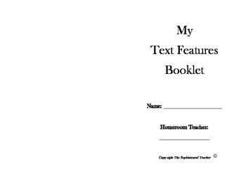 Text Features Booklet Project