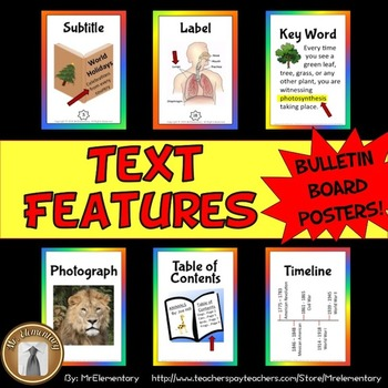Text Features Bulletin Board