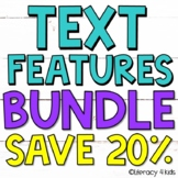 Text Features Task Cards, PowerPoint, and Posters $$$ Savings BUNDLE