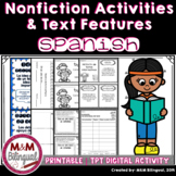 Text Features - Comprensión de textos informativos {SPANISH}