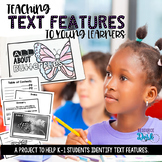 Text Features Cross Curricular Activity - All About Butterflies Book