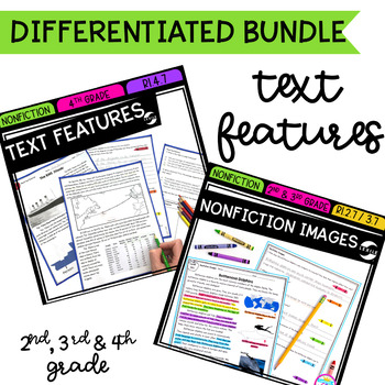 Text Features Differentiated Bundle - 2nd, 3rd & 4th Grades