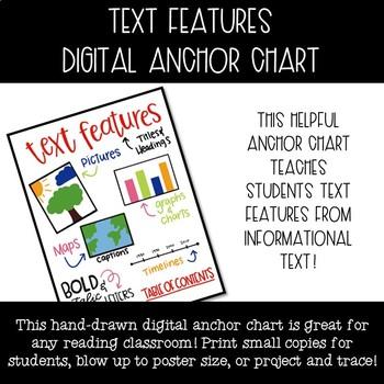 Text Features Digital Anchor Chart