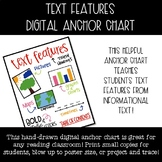 Text Features Digital Anchor Chart