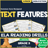 Using Nonfiction Text Features: ELA Reading Comprehension Worksheets   GRADE 3