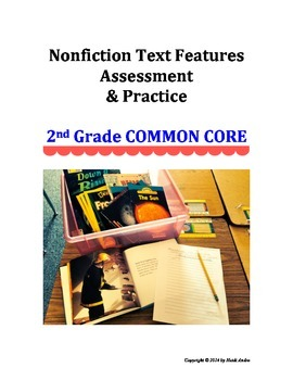 Text Features EXCELLENT assessment and activities, 2nd Gra