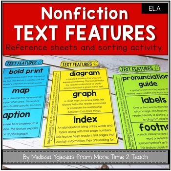 Text Features Flap Books