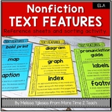 Nonfiction Text Features: Interactive Notebook Activities - Text Features Sort