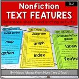 Nonfiction Text Features: Interactive Notebook Activities -Sort