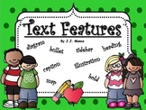 Text Features Foldable, Vocabulary, and Mini Book