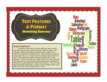 Text Features & Formats Matching Exercise