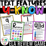 Nonfiction Text Features Game for Literacy Centers: U-Know