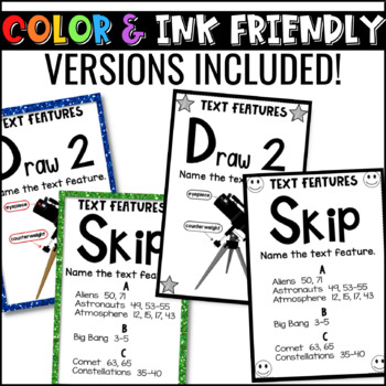 Nonfiction Text Features Game | U-Know Text Features Review Game