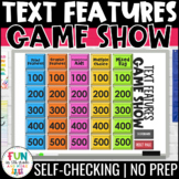 Nonfiction Text Features Game Show | Digital | Test Prep Reading Review Game