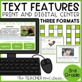Text Features Game | Text Features Activity | Text Features Center