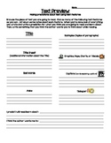 Text Features Graphic Organizer and Poster Set