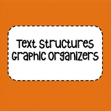 FREE Text Structures Graphic Organizers