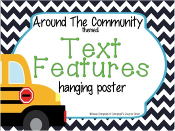 Reading Comp Hanging Poster {Text Features}