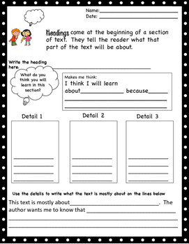 Text Features: Headings