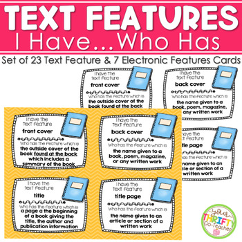 Text Features I Have Who Has Activity