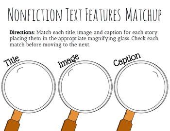 Nonfiction Text Feature Identification Activity