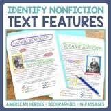 Text Features Identification in Nonfiction Passages: Ameri
