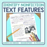 Text Features Identification in Nonfiction Passages: American Heroes