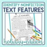 Text Features Identification in Nonfiction Passages: Holidays