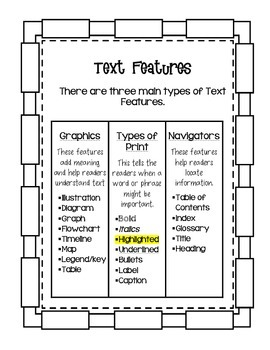 Text Features Interactive Journal