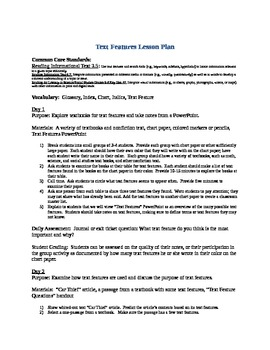 Text Features Lesson Plan