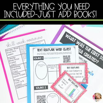 Text Features Lesson Plans with Activities
