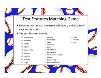 Text Features Matching