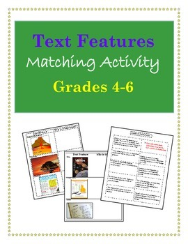 Text Features Matching Activity