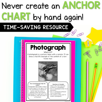 Text Features Mini Anchor Charts