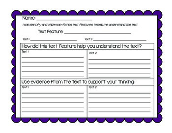 Text Features Organizer