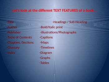 Text Features PPT