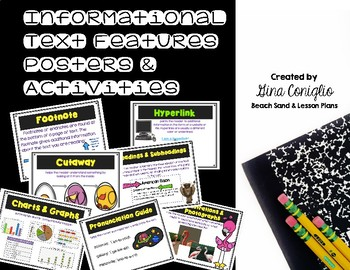 Text Features Pack: Posters & Activities for Informational Text