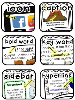 Text Features Poster Pack {Common Core Aligned}