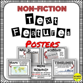 Non-Fiction Text Features Posters for Upper Grades